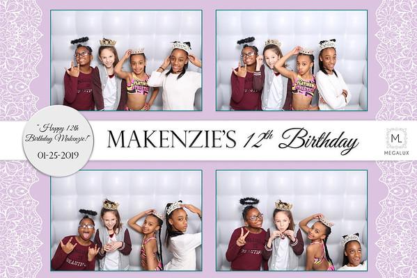 MaKenzie's 12th Birthday Party 01-25-19