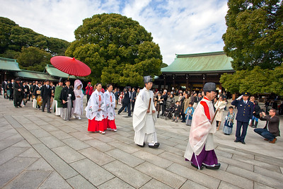Wedding Ceremony at Meiji Shrine