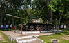 This is a mockup of one of the North Vietnamese tanks that breached the palace gates as the war ended.