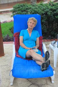 Mama na leżaku