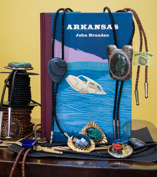 "A portion of the author's bolo collection. ""Bolo"" is never mentioned in the John Brandon book that Arkansas is based upon. Photo by Pearse Anderson."