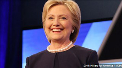 Hillary Clinton received much endorsement before her address. Photo: MGN Online