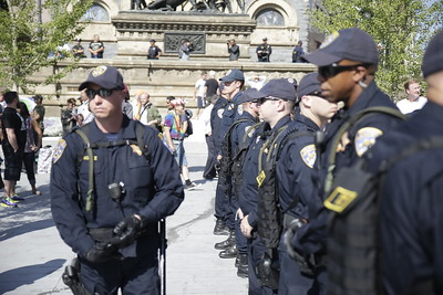 Police enforcement seemingly stronger in terms of numbers. Photo: Bro. Michael Muhammad
