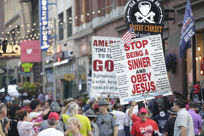 Protests included anti-Trump endorsements. Photo: Bro. Michael Muhammad