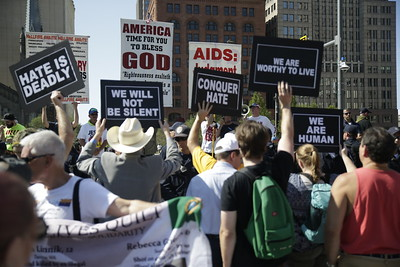 Protesters increased in numbers for the GOP Convention. Photo: Bro. Michael Muhammad