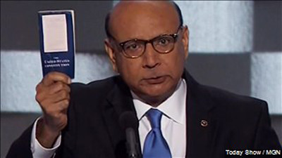 Khizr Khan addresses Donald Trump criticism. Photo: MGN Online