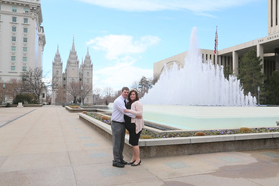 Michelle and Ryan Temple Square