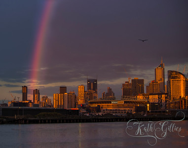 Rainbow over Melbourne