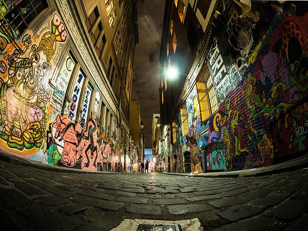 Alley-way, night