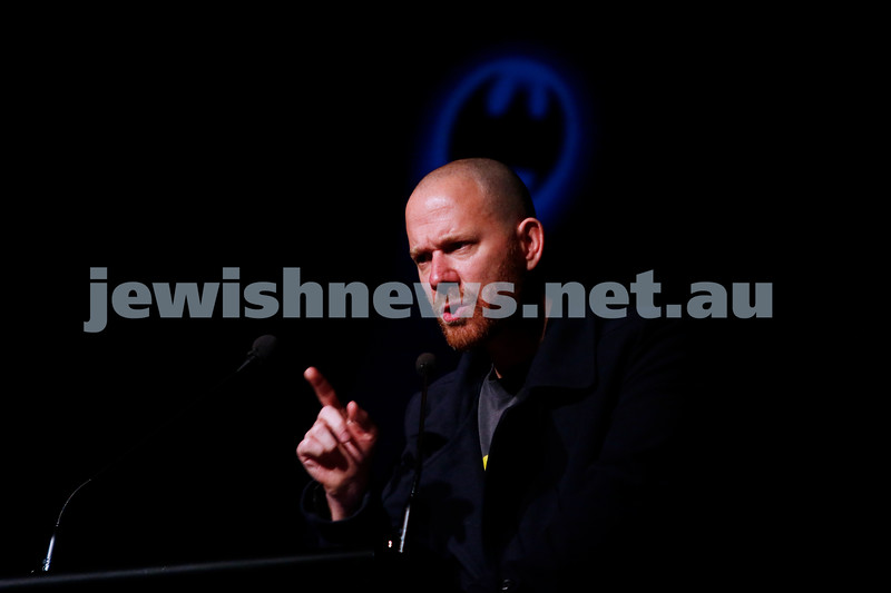 3-5-18 Melbourne Jewish Book Week Launch at Glen Eira Town Hall. Michael Brooks. Photo: Peter Haskin