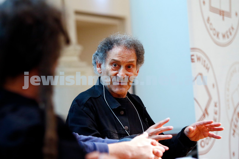 3-5-18 Melbourne Jewish Book Week. St Kilda Town Hall.  Elswhere Streets. Arnold Zable. Photo: Peter Haskin