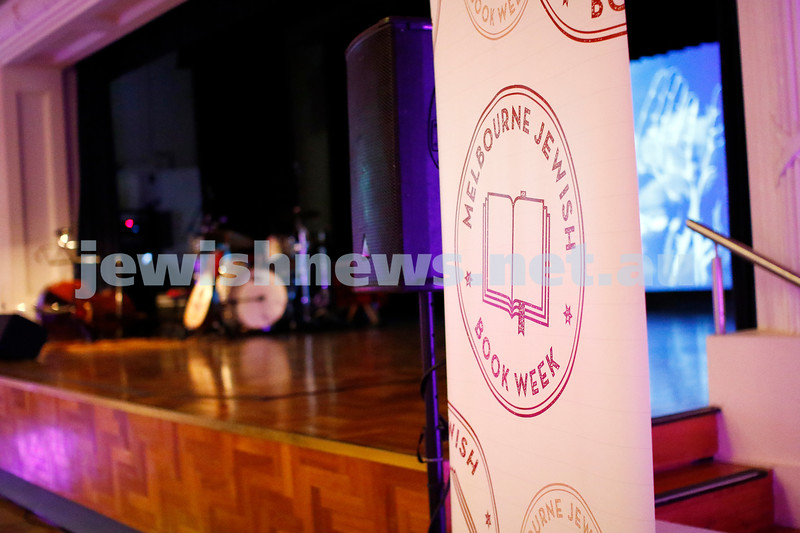 3-5-18 Melbourne Jewish Book Week Launch at Glen Eira Town Hall. Photo: Peter Haskin