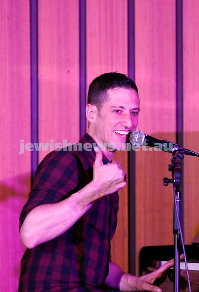 7-12-17. Melbourne Jewish Comedy Festival. Kadimah, Elsternwick. Josh Levy. Photo: Peter Haskin