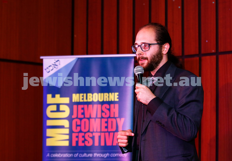 7-12-17. Melbourne Jewish Comedy Festival. Kadimah, Elsternwick. Ben Volchok. Photo: Peter Haskin
