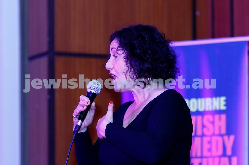 7-12-17. Melbourne Jewish Comedy Festival. Kadimah, Elsternwick. Rachel Berger. Photo: Peter Haskin
