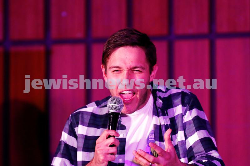 7-12-17. Melbourne Jewish Comedy Festival. Kadimah, Elsternwick. Josh Gurgiel. Photo: Peter Haskin