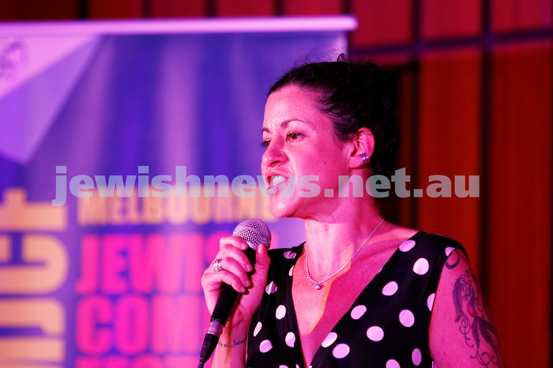 7-12-17. Melbourne Jewish Comedy Festival. Kadimah, Elsternwick. Miriam Levy. Photo: Peter Haskin