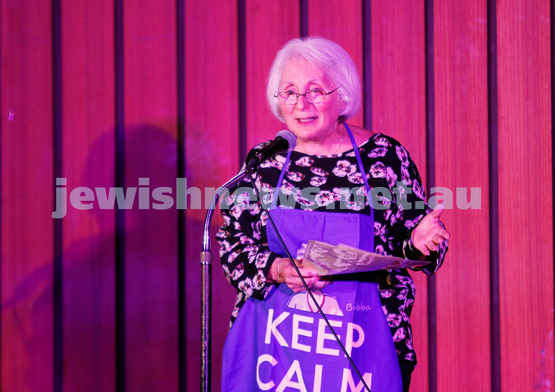 7-12-17. Melbourne Jewish Comedy Festival. Kadimah, Elsternwick. Helen Mizrachi. Photo: Peter Haskin