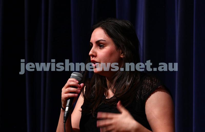 10-10-15. Melbourne Jewish Comedy Festival. Gala Opening.  Natasha Rubinstein. Photo: Peter Haskin