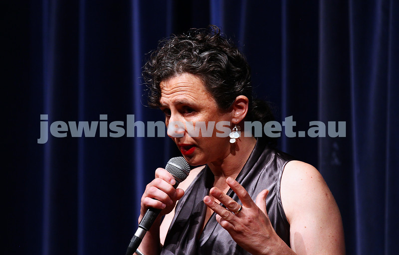 10-10-15. Melbourne Jewish Comedy Festival. Gala Opening.  Justine Sless. Photo: Peter Haskin