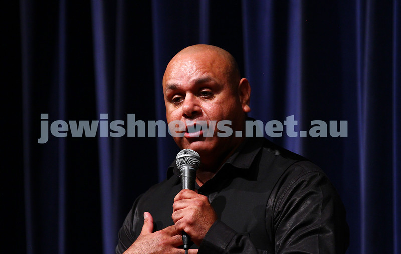 10-10-15. Melbourne Jewish Comedy Festival. Gala Opening.  Kevin Kropinyeri. Photo: Peter Haskin