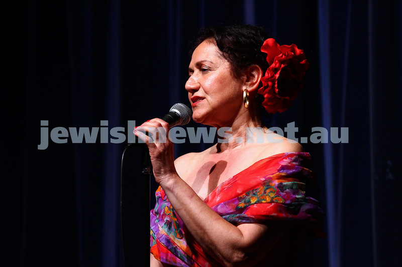 10-10-15. Melbourne Jewish Comedy Festival. Gala Opening. MC fofr the evening Rachel Berger. Photo: Peter Haskin