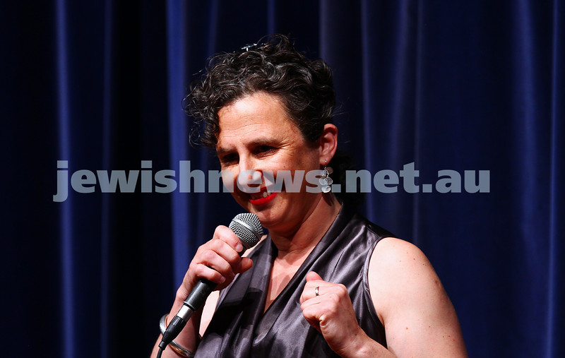 10-10-15. Melbourne Jewish Comedy Festival. Gala Opening. Justine Sless. . Photo: Peter Haskin