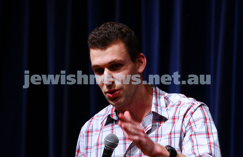 10-10-15. Melbourne Jewish Comedy Festival. Gala Opening.  Michael Shafar. Photo: Peter Haskin