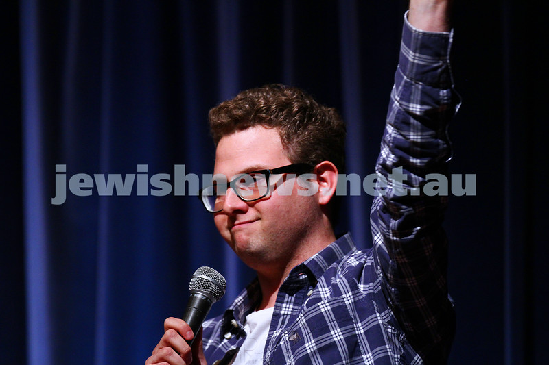 10-10-15. Melbourne Jewish Comedy Festival. Gala Opening.  Michael Lanzer. Photo: Peter Haskin