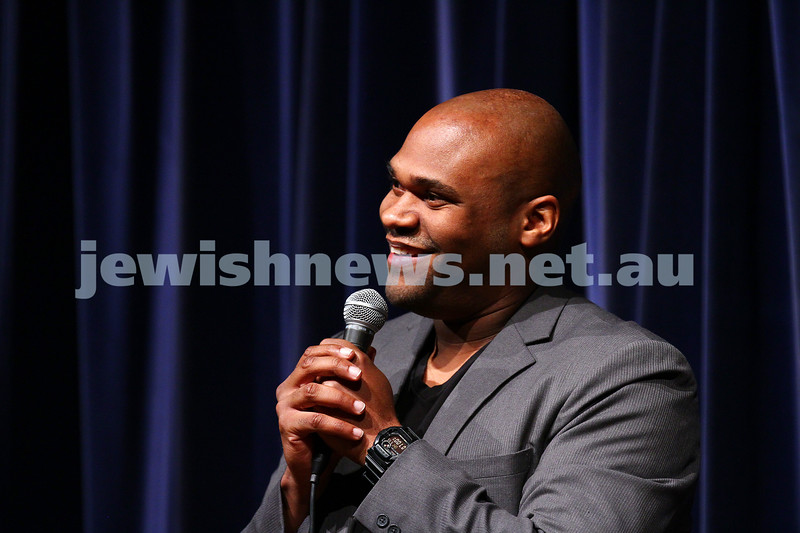 10-10-15. Melbourne Jewish Comedy Festival. Gala Opening.  Jim Brewsky. Photo: Peter Haskin