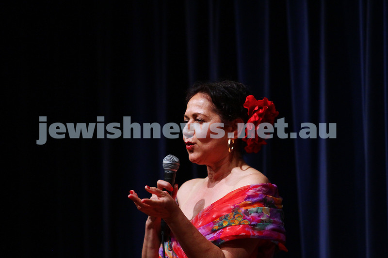 10-10-15. Melbourne Jewish Comedy Festival. Gala Opening. MC for the evening Rachel Berger. Photo: Peter Haskin