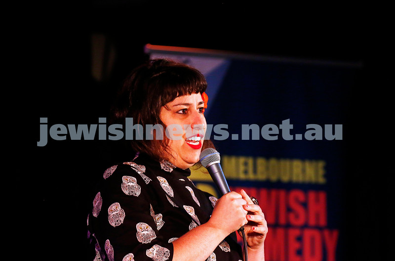 11-9-16. Melbourne Jewish Comedy Festival. MEMO Music Hall, St Kilda. Eve Ellenbogen. Photo: Peter Haskin