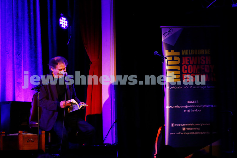 11-9-16. Melbourne Jewish Comedy Festival. MEMO Music Hall, St Kilda. Arnold Zable. Photo: Peter Haskin