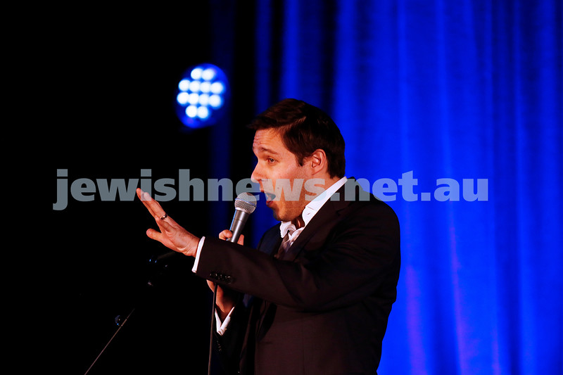 11-9-16. Melbourne Jewish Comedy Festival. MEMO Music Hall, St Kilda. Josh Gurgiel. Photo: Peter Haskin