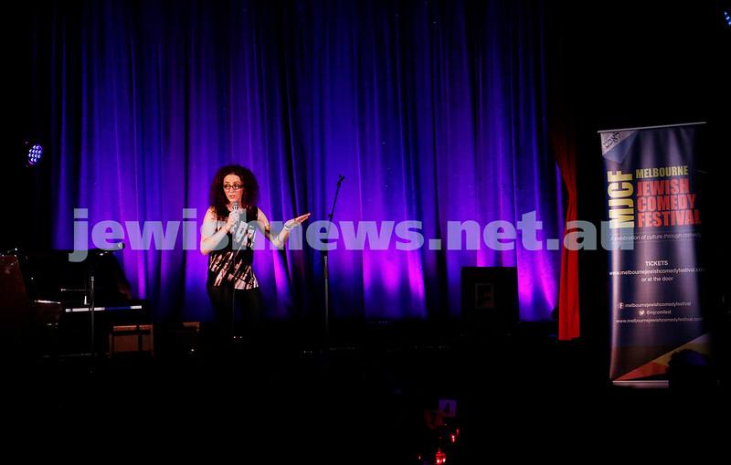 11-9-16. Melbourne Jewish Comedy Festival. MEMO Music Hall, St Kilda. Jordana Borensztajn. Photo: Peter Haskin