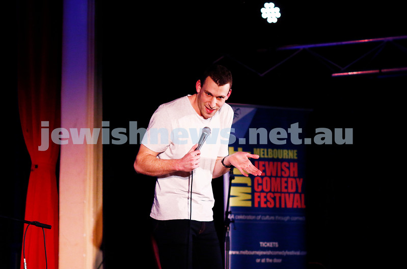 11-9-16. Melbourne Jewish Comedy Festival. MEMO Music Hall, St Kilda. Michael Shaffer. Photo: Peter Haskin