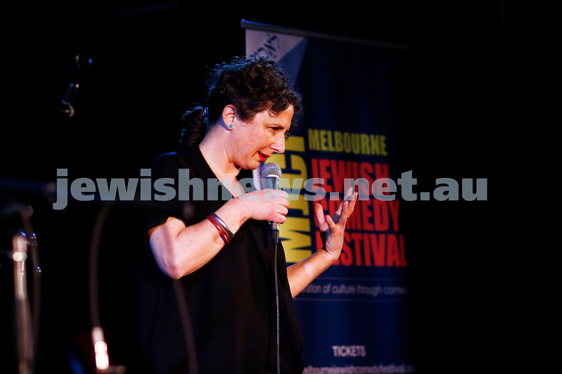 11-9-16. Melbourne Jewish Comedy Festival. MEMO Music Hall, St Kilda. Justine Sless. Photo: Peter Haskin