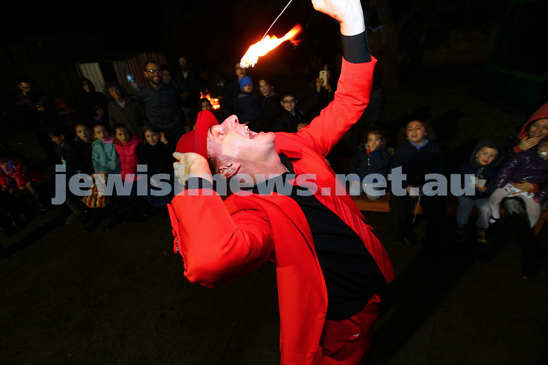 6-5-15. Lag B'omer 2015. Fire eater at Katanga. Photo: Peter Haskin
