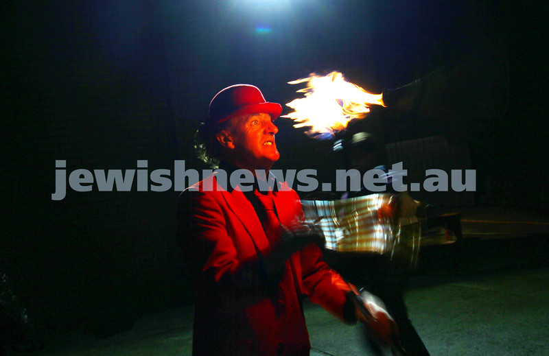 6-5-15. Lag B'omer 2015. Fire juggling at Katanga. Photo: Peter Haskin