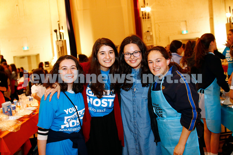 9-11-16. Shabbat Project. Teen challah bake at St Kilda Town Hall. Photo: Peter Haskin