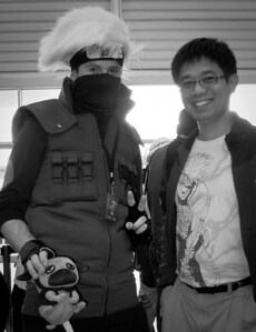 Kwanghui in his Kakashi t-shirt meets Kakashi