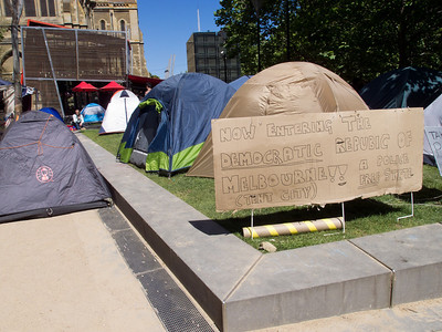 """The Democratic Republic of Melbourne"" tent city"