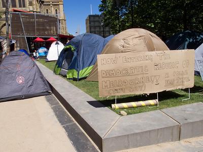 """The Democratic Republic of Melbourne"" tent city"