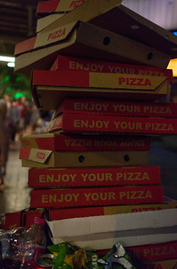 Lots and lots of pizza