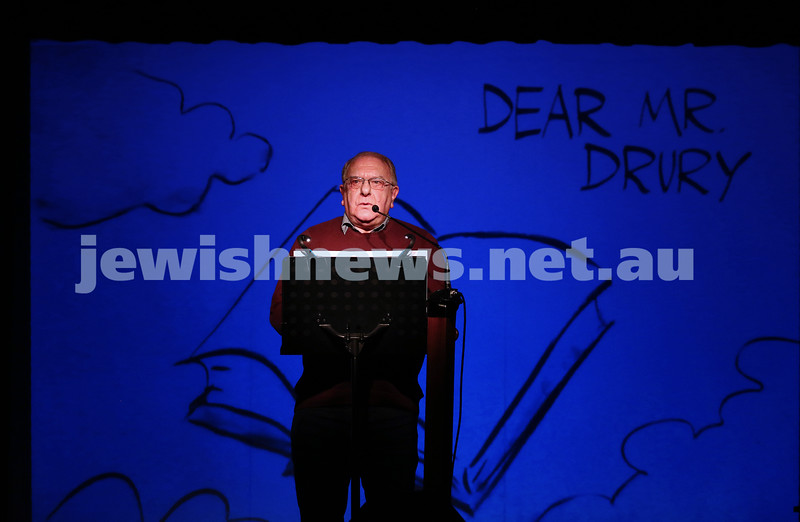 21-5-16. Opening of the Jewish Writers Festival 2016 at Glen Eira Town Hall. Alan Gold. Photo: Peter Haskin