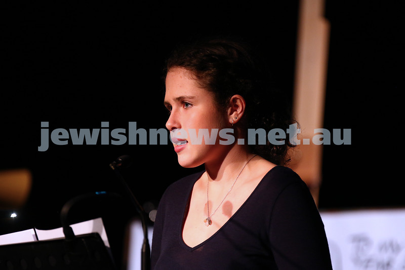 21-5-16. Opening of the Jewish Writers Festival 2016 at Glen Eira Town Hall. Grace Halphen. Photo: Peter Haskin