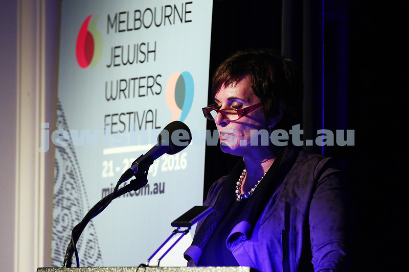 21-5-16. Opening of the Jewish Writers Festival 2016 at Glen Eira Town Hall. Esther Kister. Photo: Peter Haskin