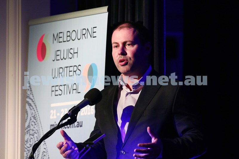 21-5-16. Opening of the Jewish Writers Festival 2016 at Glen Eira Town Hall. Josh Frydenberg. Photo: Peter Haskin