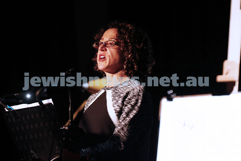 21-5-16. Opening of the Jewish Writers Festival 2016 at Glen Eira Town Hall. Nadine Davidoff. Photo: Peter Haskin