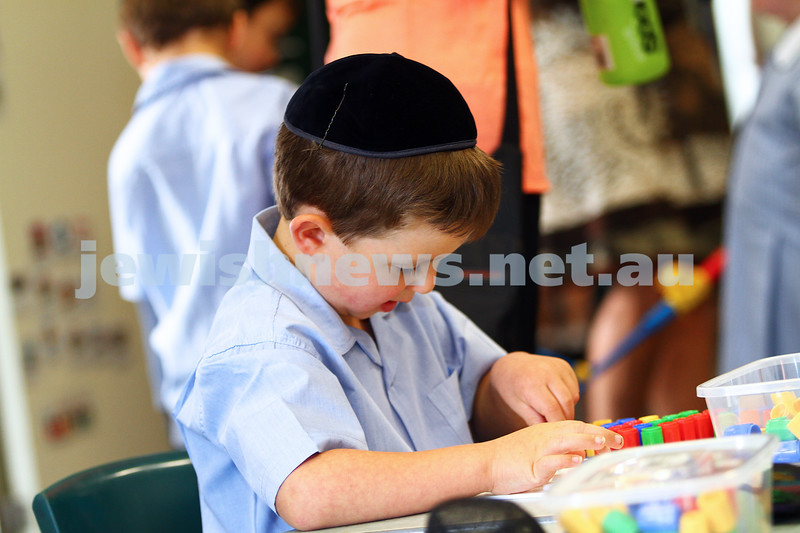 30-1-15. First day of school. Prep class. Mount Scopus College, Fink Karp Ivany Campus. Photo: Peter Haskin
